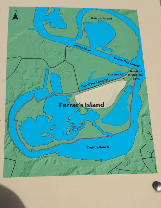 Farrars Island Map Chesterfield Virginia